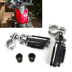 2x 1-1/4 Highway Footrest Motorcycle Footpegs Mount Clamps For Harley Sportster