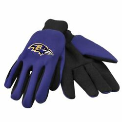 Foco Nfl Baltimore Ravens Embroidered Utility Gloves Pair One Size Fits Most
