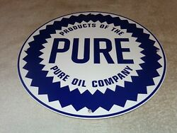 Vintage Products Of The Pure Oil Company 11 3/4 Porcelain Metal Gasoline Sign