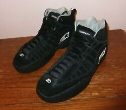 Starter Air Acg Black Suede Leather Driving Shoes Sfi Spec 3.3/5-size 9 Nwob