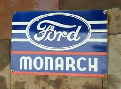 Porcelain Ford Monarch Enamel Sign Size 16 X 24 Inches Sided