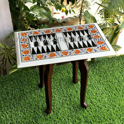 Exclusive Handmade Marble Backgammon Board Birthday Gift Game Table