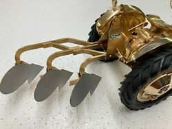 3- Bottom Gold Plow For Ford Toy Tractor