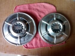 Two 1964 1965 Ford Falcon Hubcap Wheel Cover Center Cap