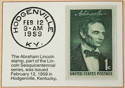 1959 1c The Abraham Lincoln Stamp