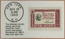 1960 4c The Abraham Lincoln Stamp