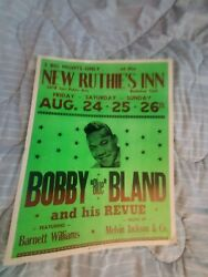 Bobby Blue Bland Soul Hall Of Fame Rock Cardboard Boxing Style Concert Poster