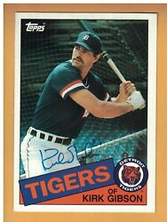 Kirk Gibson Autographed 1985 Topps Jumbo 5x7 Baseball Card Signed Detroit Tigers