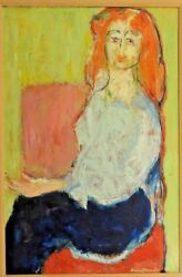 Humbert Howard African American Painter Signed And Framed Oil Painting Of Woman
