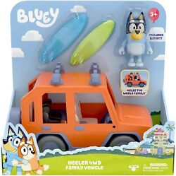 Bluey Toy Car Heeler 4wd Family Vehicle With Bandit Figure Free Us Shipping