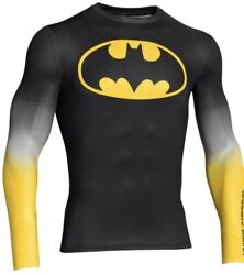 Under Armour Batman Long Sleeve Compression Shirt Adult Large Rare Discontinued