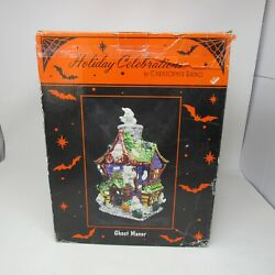 Christopher Radko Ghost Manor Lighted Haunted House Halloween Decor Retired In