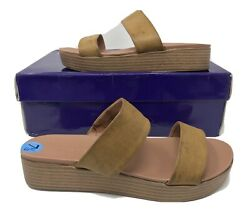 Madden Girl Steve Madden Womenand039s Alie Cognac Paris Sandals Size 7.5 New With Box