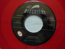 Paul Smith Quartet - Together / Apart - 7 Red Vinyl 45 Rpm On Discovery 45-120