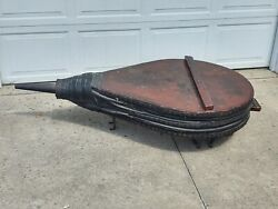 Huge Antique French Blacksmith Bellows On Stand 72x 36 Great Coffee Table
