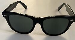 Ray Ban Wayfarer Classic RB2140 901A 54mm Black w Grey Lenses Made in Italy $51.70