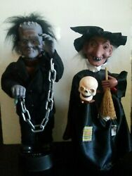 Vintage Original Motion-ette Monster And Witch In Box, Semi Working, Great Condit