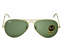 Ray Ban Aviator Classic RB3025 Sunglasses L0205 Green 58mm Lens $69.99