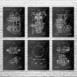 Henry Ford Automotive Posters Set Of 6 Automotive Engineer Car Lover Gift