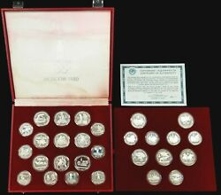 1980 Moscow Russia Olympics Proof Silver Coin Set 28 Pieces 20.24 Asw