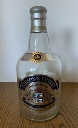 Gibson's Finest Sterling Edition 25 Year Old Canadian Whiskey Empty Bottle