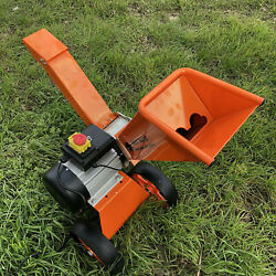 Compact Garden Self Feed Electric Wood Chipper 2800w 4hp Chips Up To 50mm Diam