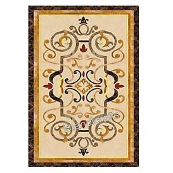Handmade Crafts Marble Hallway Table Top Marquetry Art Dinning Table Inlay Work