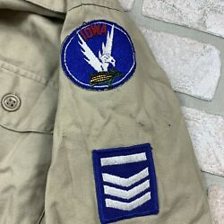 Vintage Iowa Civil Air Patrol Uniform Shirt And Pants Set Small - With Patches