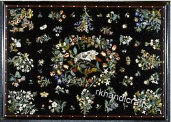 Marble Patio Table Top Pietra Dura Art Dinning Table With Inlay Work For Home