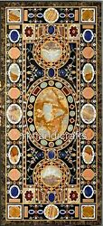 Marble Dinning Table Top Pietra Dura Art Lawn Table With Unique Design