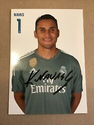 Kaylor Navas, Real Madrid 2017/18 Official Card 4x6 Hand Signed