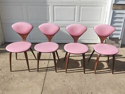 4 Vintage George Mulhauser, Plycraft Side Chairs Authentic, All Original W/tags