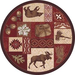 Area Rugs - Coldwater Ridge Wilderness Lodge Rug - 8' Round Rug