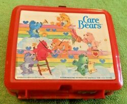 Care Bears Red Lunch Box And Thermos 1985 Aladdin Collectible Rare