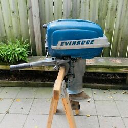 Vintage 50's Evinrude Super Fastwin Outboard Motor - Was Working - Repair Parts