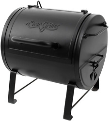 Charcoal Bbq Grill Side Fire Box Black Smoking Adjustable Portable Table Top