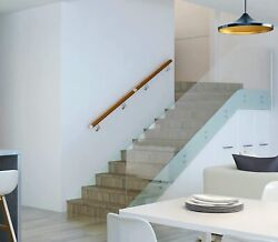 Wall Mount Modern Wooden Yellow Color Pvc Stair Handrail With Rail Brackets