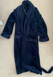 Famp;F Florence amp; Fred Navy Blue Soft Fluffy Fleece Dressing Gown Size Medium M GBP 19.99