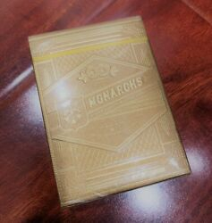 BRAND NEW Gold Monarch Playing Cards Theory 11 Sealed Very RARE Limited $165.00