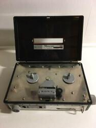 Sony Tapecorder Baby Model 901 No.10349 Compact Open Reel Leather Covers Used