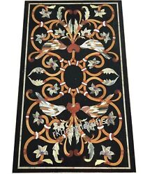 Marble Coffee Table Top Pietra Dura Art Island Table With Antique Work For Home