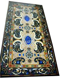 Marble Lawn Table Top Pietra Dura Art Dinning Table With Unique Design