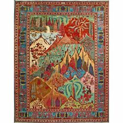 Antique 9' 10 X 12' 8 All Natural Wool, Authentic Hand Knotted Perssian Rug