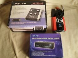 Tascam Us-122 Mkii Audio Interface + Tc-750 Turntable Preamp + Interconnect