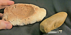 Native American Shamanandrsquos Coral Offering Bowl And Manatee Charmstone--florida. Aaca