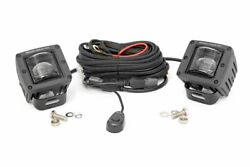 Rough Country 2-inch Square Led Sae Fog Lights-pair