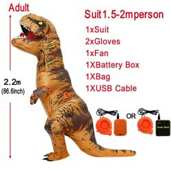 Inflatable Dinosaur Costumes T-rex Cosplay Anime Blowup Halloween Costume For