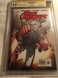 Young Avengers 1 Cgc 9.8 Ss Director's Cut. Signed By Jim Cheung Mint Case Rare