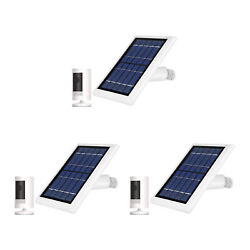 Ring Stick Up Cam Battery With Solar Panel Bundle Deal Camera 3 Pack White
