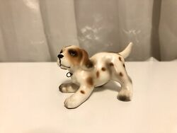 Antique Hound Dog Puppy Playful Made In Japan Very Cute